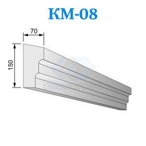 Фасадный межэтажный карниз из пенопласта KM-08