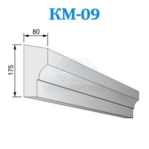 Фасадный межэтажный карниз из пенопласта KM-09