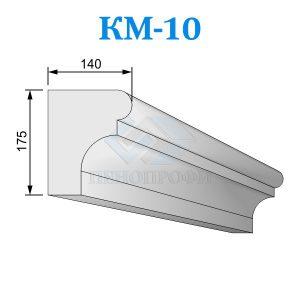 Фасадный межэтажный карниз из пенопласта KM-10