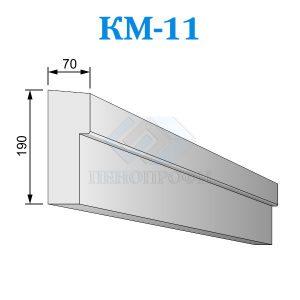 Фасадный межэтажный карниз из пенопласта KM-11