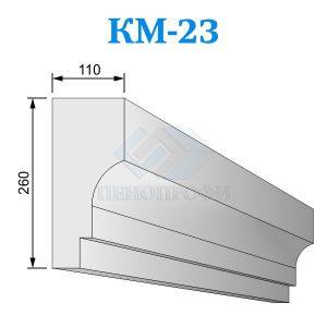 Фасадный межэтажный карниз из пенопласта KM-23