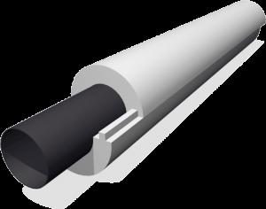 Теплоизоляционная скорлупа из пенопласта для утепления труб