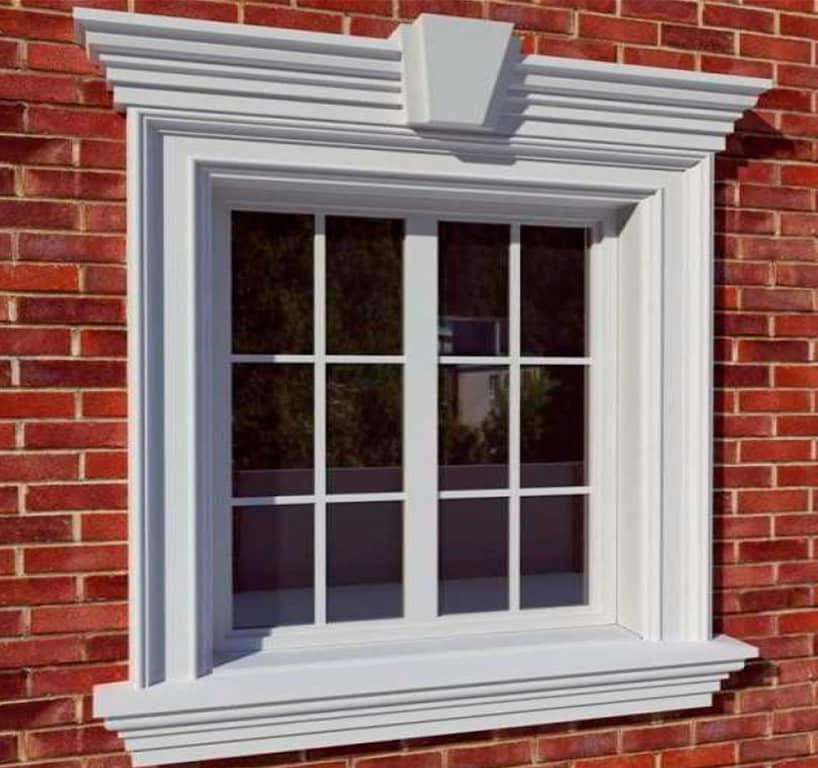 фото обналички на окна из полиуретана развились фоне сопутствующей
